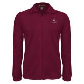 Fleece Full Zip Maroon Jacket-Institutional Logo