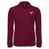 Fleece Full Zip Maroon Jacket-Owl TWU