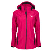 Ladies Dark Fuchsia Waterproof Jacket-TWU Typeface