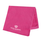 Pink Beach Towel-Institutional Logo