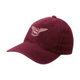 Maroon Flexfit Mid Profile Hat-Owl TWU