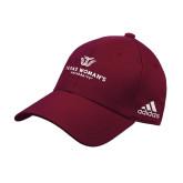Adidas Maroon Structured Adjustable Hat-Institutional Logo