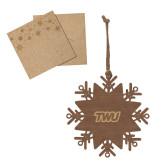 Wood Snowflake Ornament-TWU Typeface Engraved