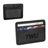 Pedova Black Card Wallet-TWU Typeface Engraved