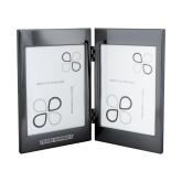 Black Nickel Double Photo Frame-Texas Womans Typeface Engraved