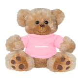 Plush Big Paw 8 1/2 inch Brown Bear w/Pink Shirt-Texas Womans Typeface