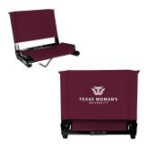 Stadium Chair Maroon-Institutional Logo
