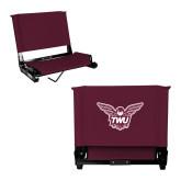 Stadium Chair Maroon-Owl TWU