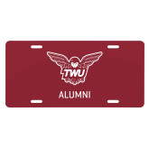 License Plate-Alumni Owl TWU
