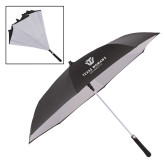 48 Inch Auto Open Black/White Inversion Umbrella-Institutional Logo