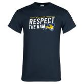 Navy T Shirt-Respect The Ram