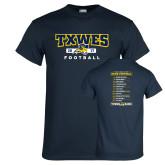Navy T Shirt-TXWES Football 2017