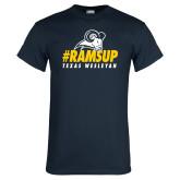 Navy T Shirt-#Ramsup