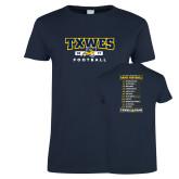 Ladies Navy T Shirt-TXWES Football 2017