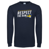 Navy Long Sleeve T Shirt-Respect The Ram