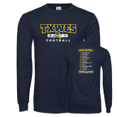 Navy Long Sleeve T Shirt-TXWES Football 2017