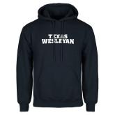 Navy Fleece Hoodie-Texas Wesleyan