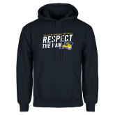 Navy Fleece Hoodie-Respect The Ram