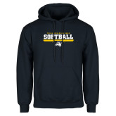 Navy Fleece Hoodie-Softball Design