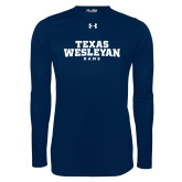 Under Armour Navy Long Sleeve Tech Tee-Texas Wesleyan Rams