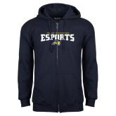 Navy Fleece Full Zip Hoodie-ESports