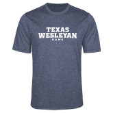 Performance Navy Heather Contender Tee-Texas Wesleyan Rams