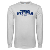 White Long Sleeve T Shirt-Texas Wesleyan Rams