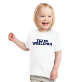 Toddler White T Shirt-Texas Wesleyan
