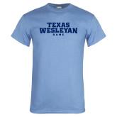 Light Blue T Shirt-Texas Wesleyan Rams