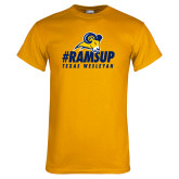 Gold T Shirt-#Ramsup
