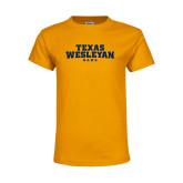 Youth Gold T Shirt-Texas Wesleyan Rams