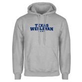 Grey Fleece Hoodie-Texas Wesleyan Rams