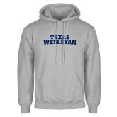 Grey Fleece Hoodie-Texas Wesleyan