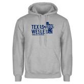 Grey Fleece Hoodie-Texas Wesleyan Est 1890