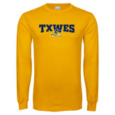Gold Long Sleeve T Shirt-Secondary Mark