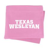 Pink Sweatshirt Blanket-Texas Wesleyan