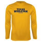 Performance Gold Longsleeve Shirt-Texas Wesleyan Rams