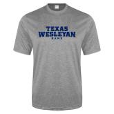 Performance Grey Heather Contender Tee-Texas Wesleyan Rams