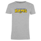 Ladies Grey T Shirt-Primary Mark