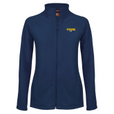 Ladies Fleece Full Zip Navy Jacket-Secondary Mark