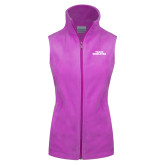 Columbia Ladies Full Zip Lilac Fleece Vest-Texas Wesleyan