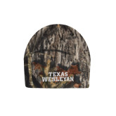 Mossy Oak Camo Fleece Beanie-Texas Wesleyan