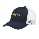 Adidas Navy Structured Adjustable Hat-Secondary Mark
