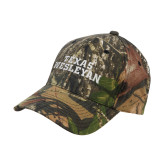 Mossy Oak Camo Structured Cap-Texas Wesleyan