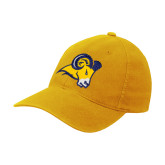 Gold Flexfit Mid Profile Hat-Ram Head
