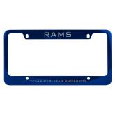 Metal Blue License Plate Frame-Rams