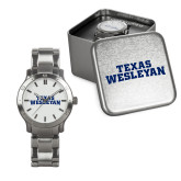 Mens Stainless Steel Fashion Watch-Texas Wesleyan