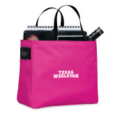 Tropical Pink Essential Tote-Texas Wesleyan