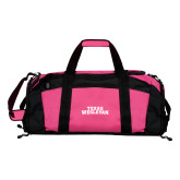 Tropical Pink Gym Bag-Texas Wesleyan