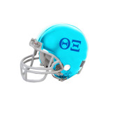Riddell Replica Light Blue Mini Helmet-Greek Letters - One Color